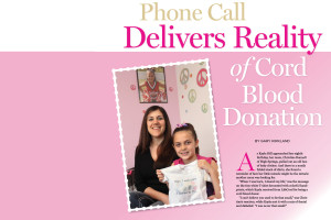 Phone Call Delivers Reality of Cord Blood Donation