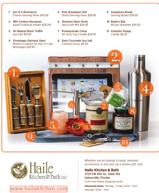 Haile Kitchen & Bath: Gifts Galore - HOME: Living in Greater ...